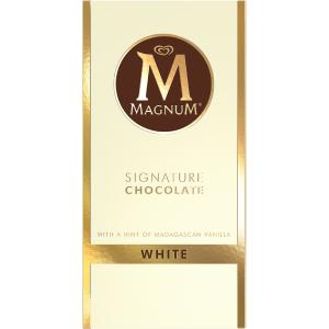 Tablette de chocolat blanc magnum magnum france - Magnum chocolat blanc ...