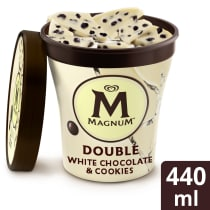 Magnum Double Becher White Chocolate & Cookies
