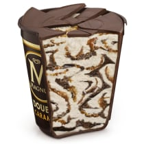 Double Sea Salt Caramel Ice Cream Tub Cut-Through