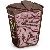 Double Cherry Truffle Ice Cream Tub Cut-Through