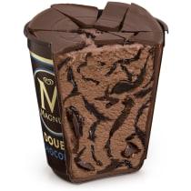 Double Chocolate and Ganache Ice Cream Tub Cut-Through