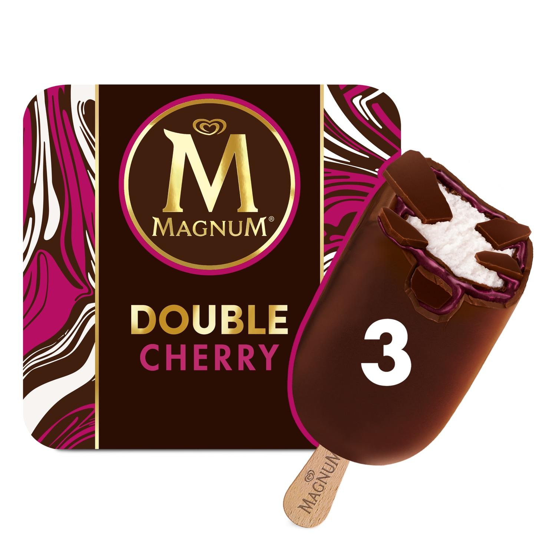 Magnum Double Cherry Ice Cream 3 x 88ml
