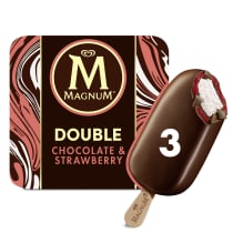 PNG - Magnum Ice Cream Lolly DOUBLE CHOCOLATE STRAWBERRY 264 ML