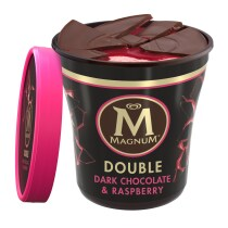 PNG - Magnum Tub Double Dark Chocolate and Raspberry Ice Cream 440ml
