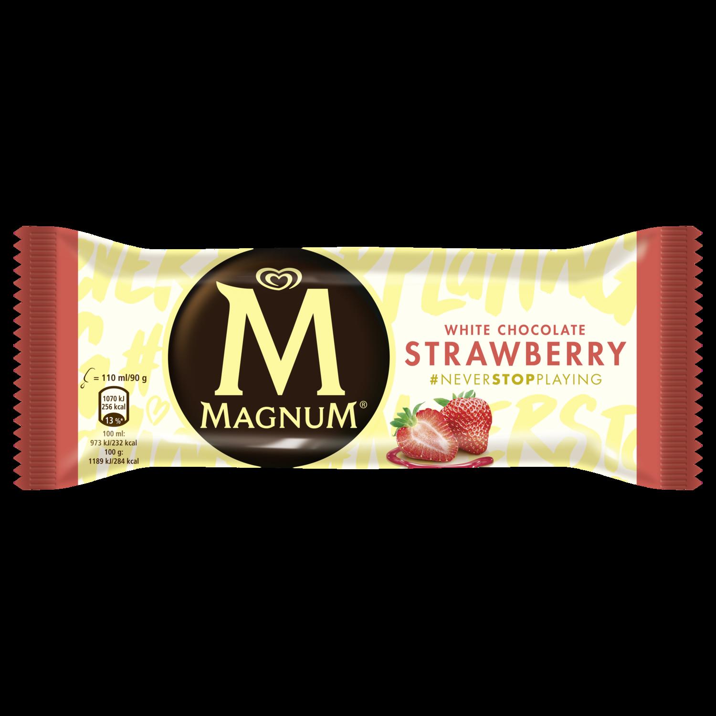 Magnum Strawberry White