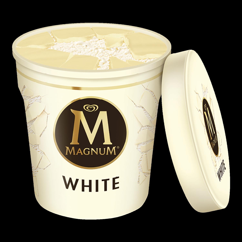Magnum Chocolate Branco em copo
