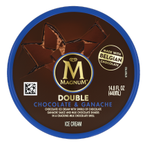 Double Chocolate and Ganache Ice Cream Tub Back of Pack