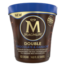 Double Chocolate and Ganache Ice Cream Tub Front of Pack