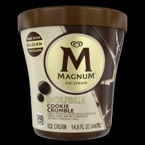 Double Cookie Crumble Ice Cream Tub Cut-Through