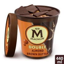 Double Almond Brown Butter Ice Cream Tub Lid-Off