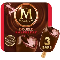PNG - Magnum Ice Cream Double Raspberry 3 PC